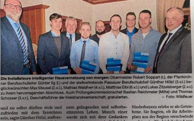 Matthias Eibl als Prüfungsbester